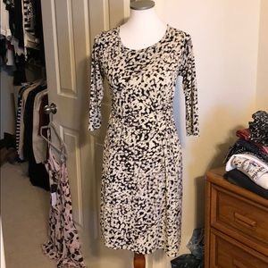 Beautiful black, white, and gray Ann Taylor dress